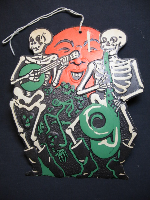 Beistle halloween die cut decorations pinterest for Antique halloween decoration