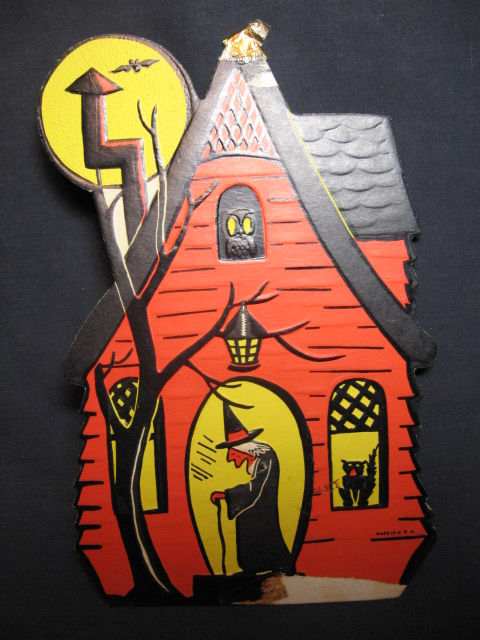 vintage halloween decorations and collectibles - Old Fashioned Halloween Decorations