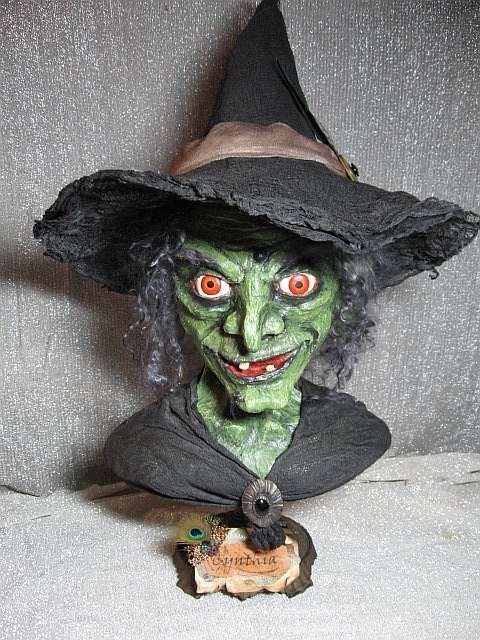 hand sculpted life size witch